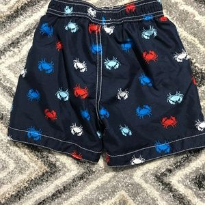 Carter's Swim - Carter's 2T blue swim trunks with crabs all over